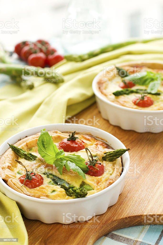 tomato asparagus quiche royalty-free stock photo