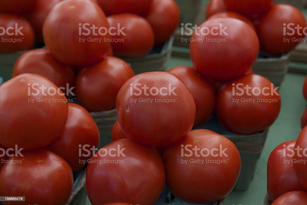 Tomato at the market royalty-free stock photo