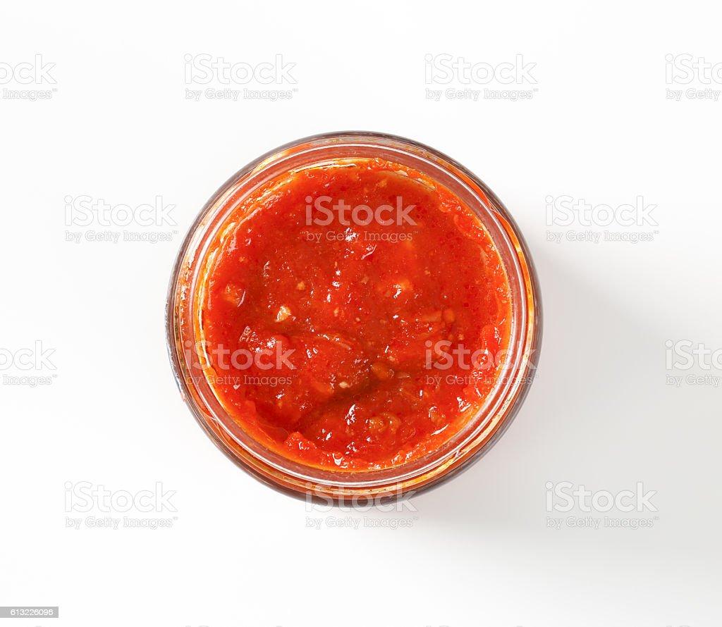 tomato based pesto stock photo