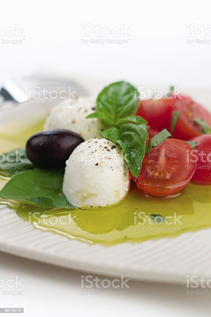 Tomato, Basil & Bocconcini stock photo