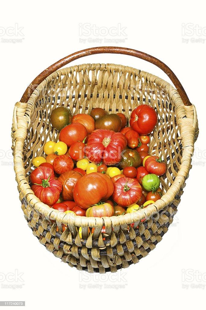 Tomato basket II stock photo