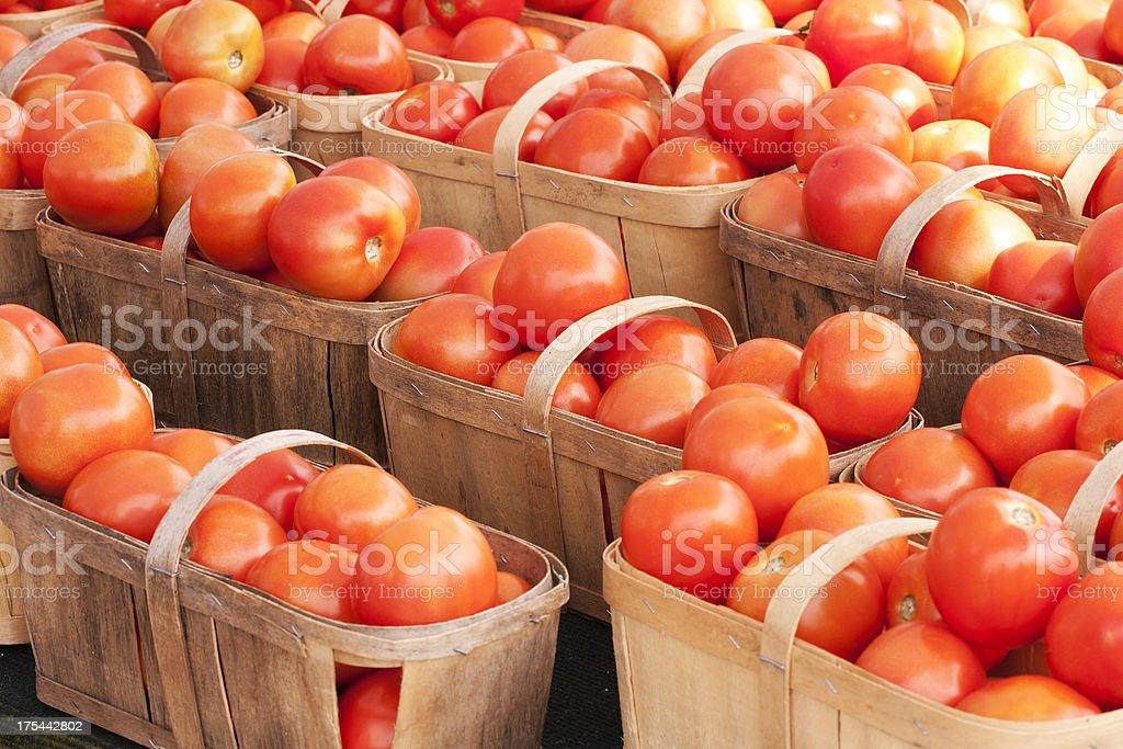 Tomato Baskets stock photo