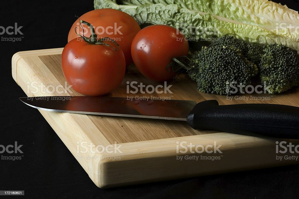 Tomato, broccoli and lettuce royalty-free stock photo