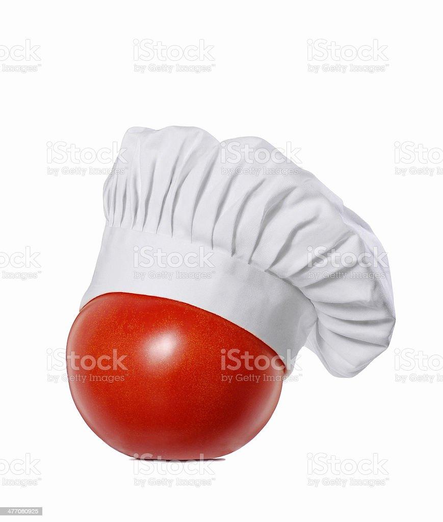 Tomato chef. stock photo