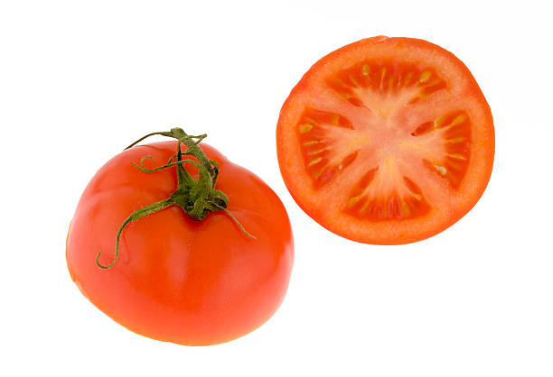 Tomato cut in half. stock photo