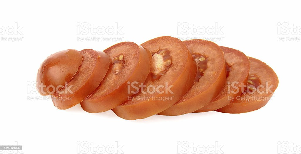 Tomato cut royalty-free stock photo