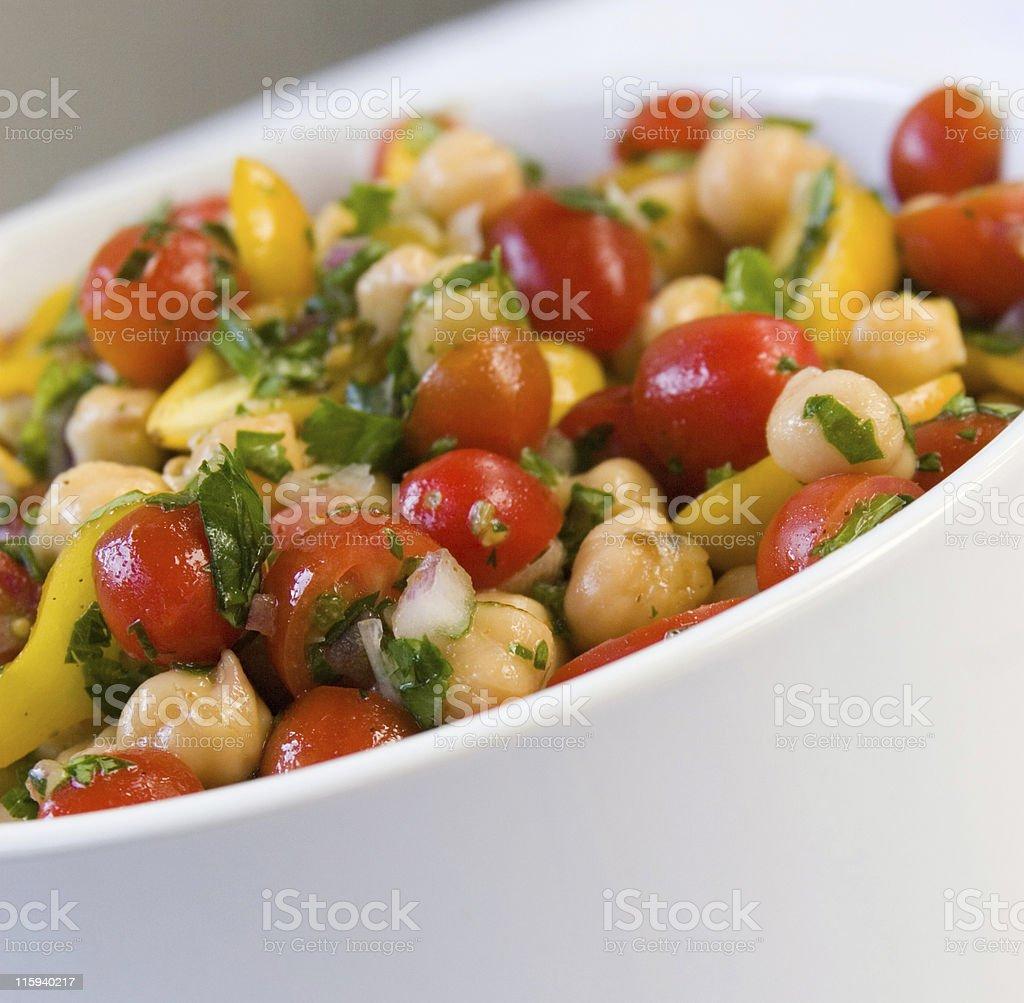 Tomato Garbanzo Cilantro Salad royalty-free stock photo