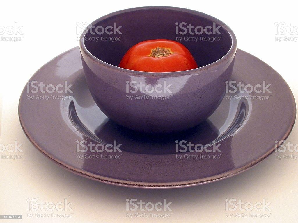 Tomato in Bowl royalty-free stock photo
