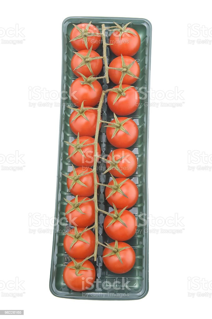 tomato in box on white royalty-free stock photo