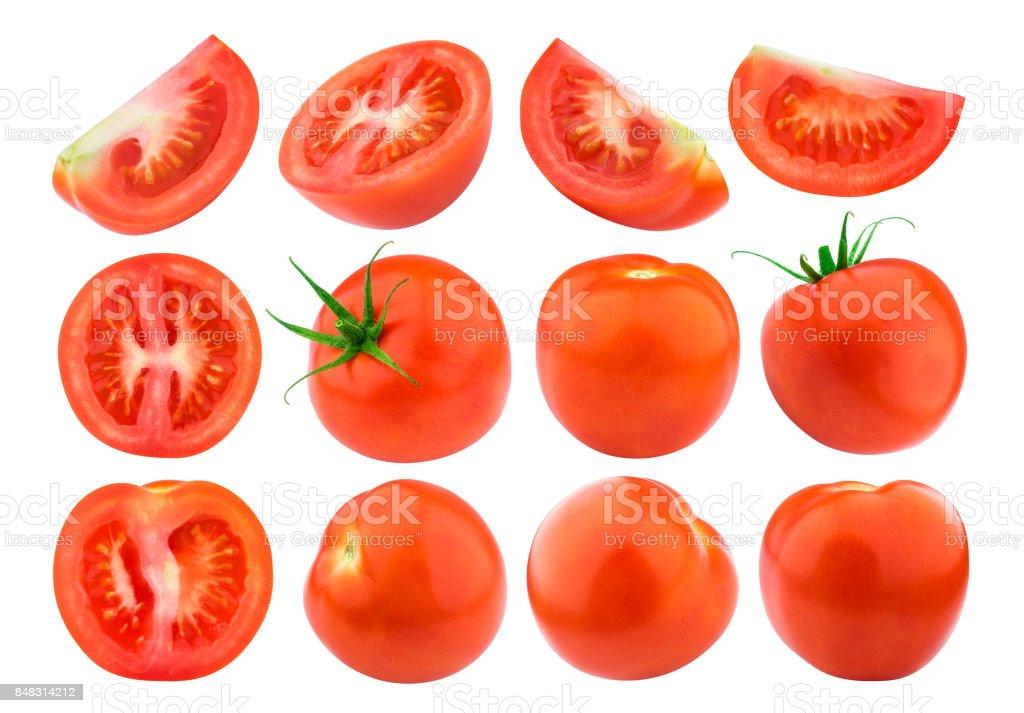 Tomato isolated isolated on white background. Collection. Single stock photo