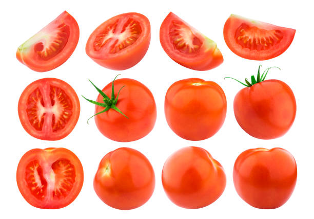 Tomato isolated isolated on white background. Collection. Single stock photo