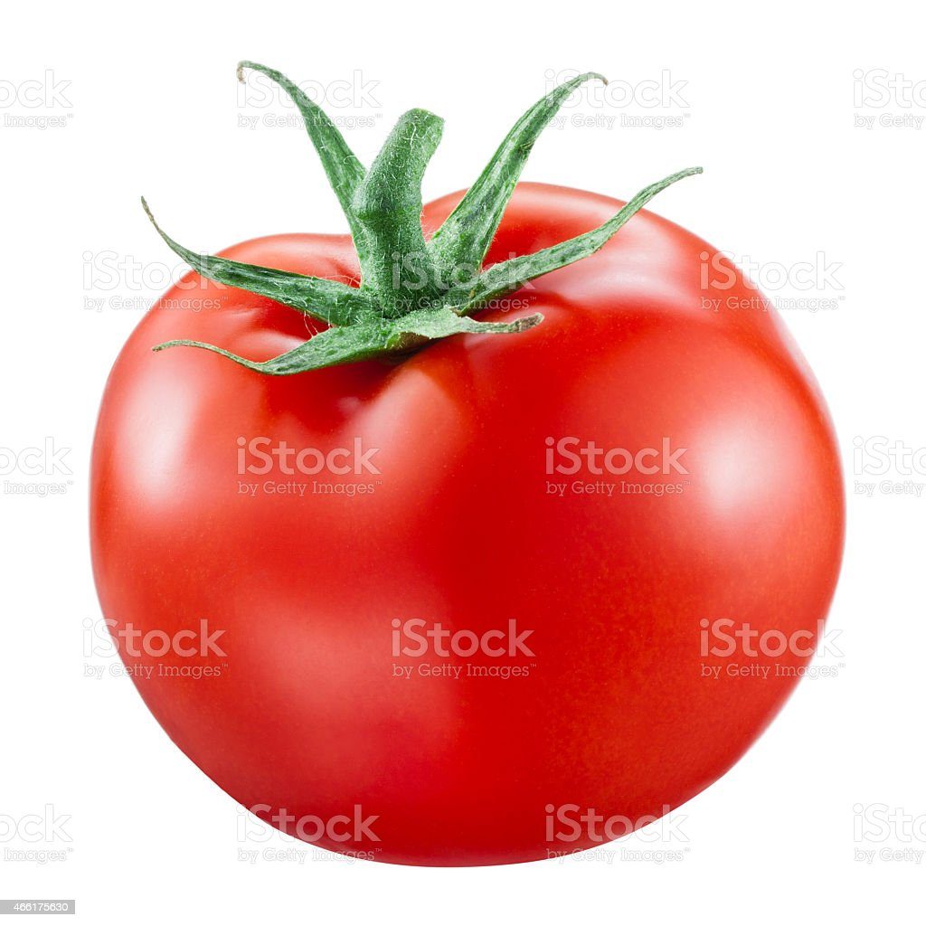 Tomato isolated on white background stock photo
