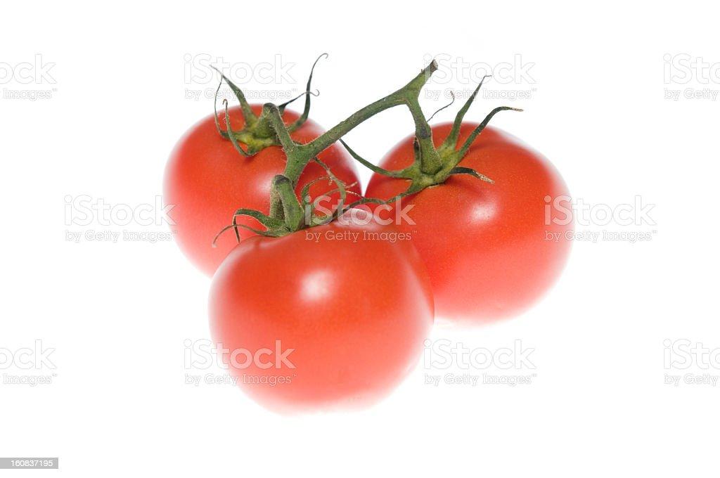 Tomato isolated on white royalty-free stock photo