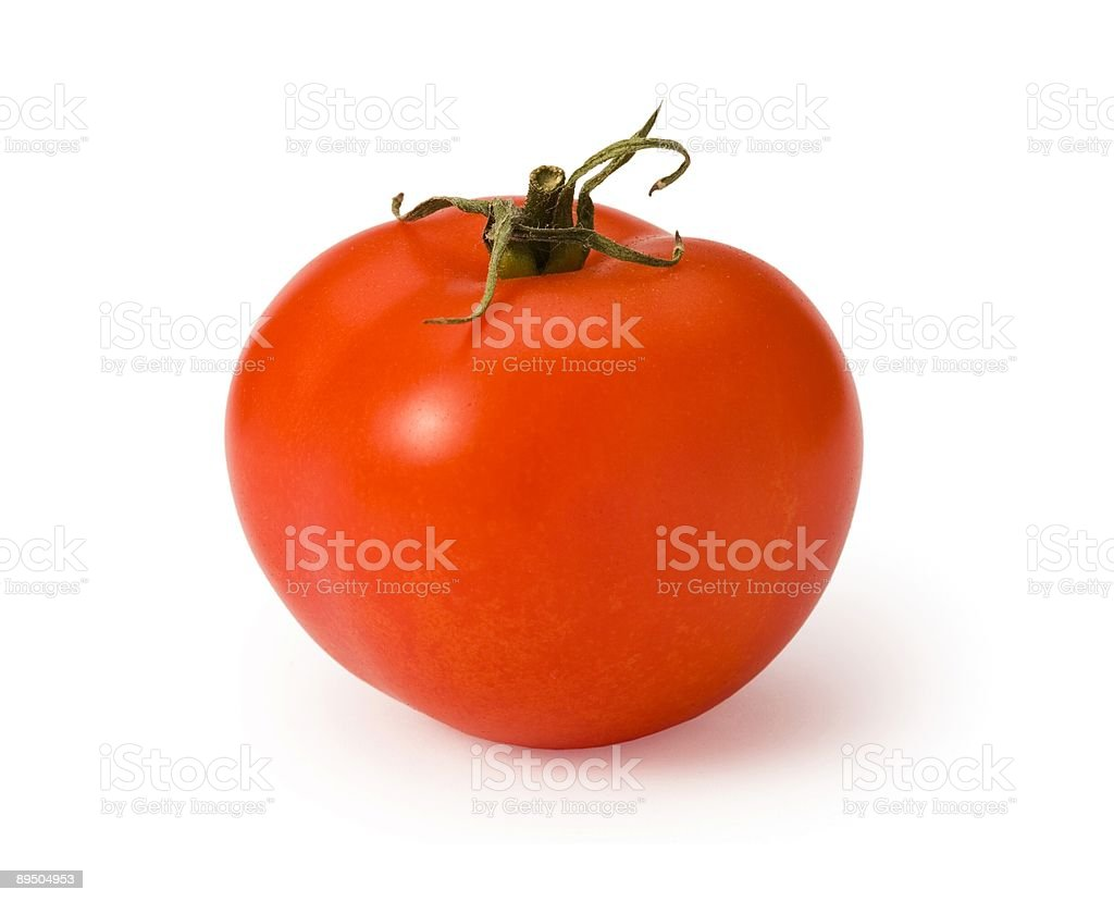 Tomato isolated on white royalty-free stock photo