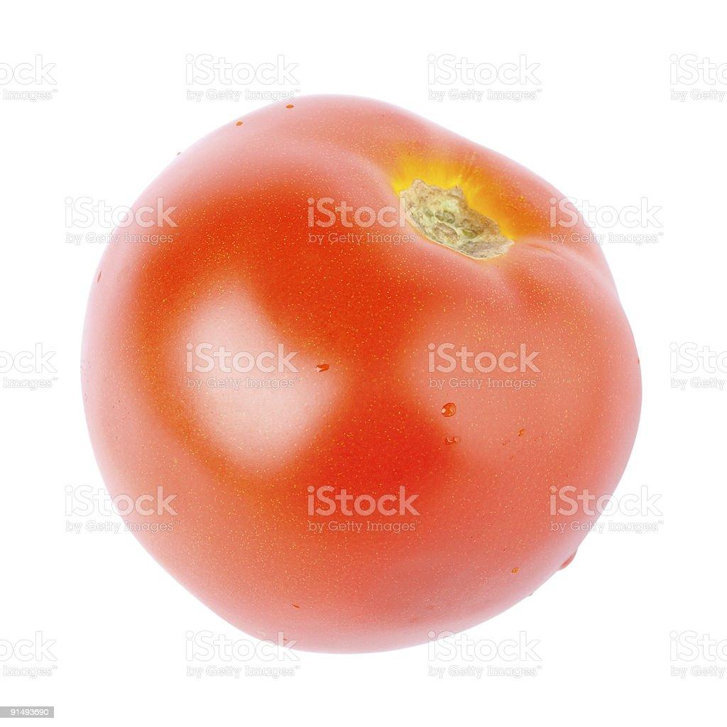Tomato isolated on white. stock photo
