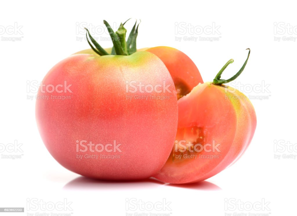Tomato isolated on white. With clipping path stock photo