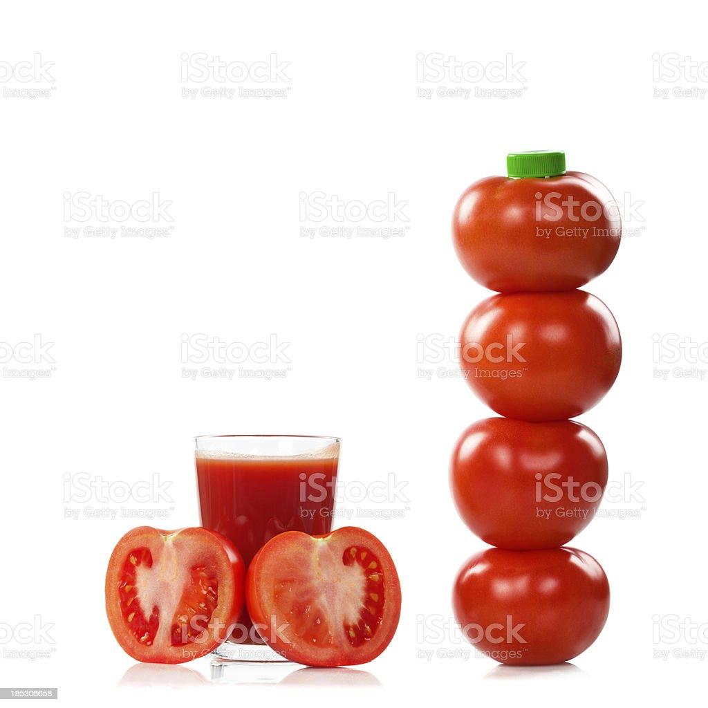 Tomato Juice Bottle royalty-free stock photo