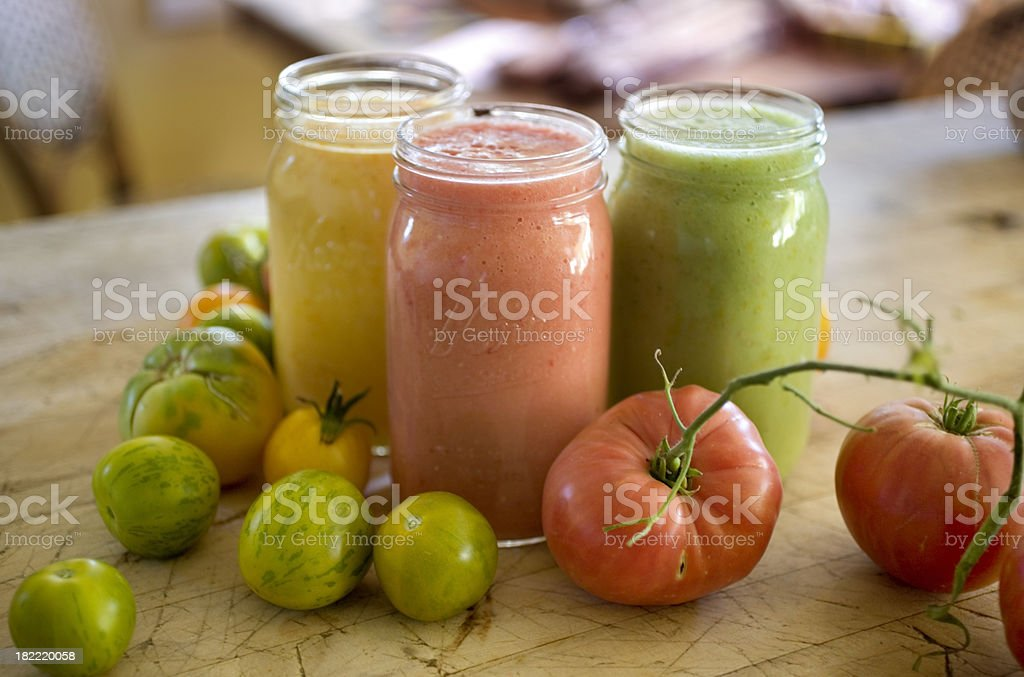 tomato juice from heirloom tomatoes royalty-free stock photo