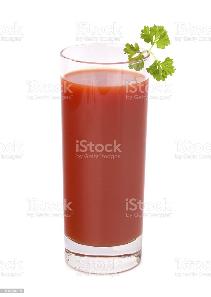 tomato juice glass stock photo