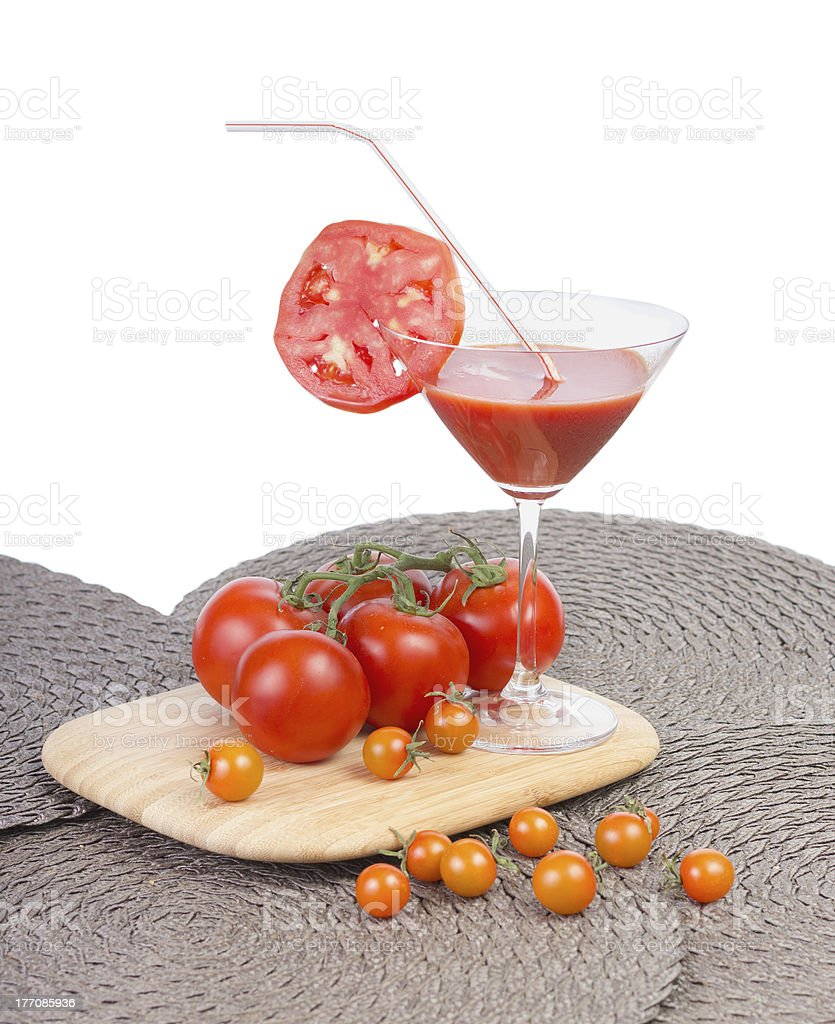 Tomato juice in the glass. royalty-free stock photo