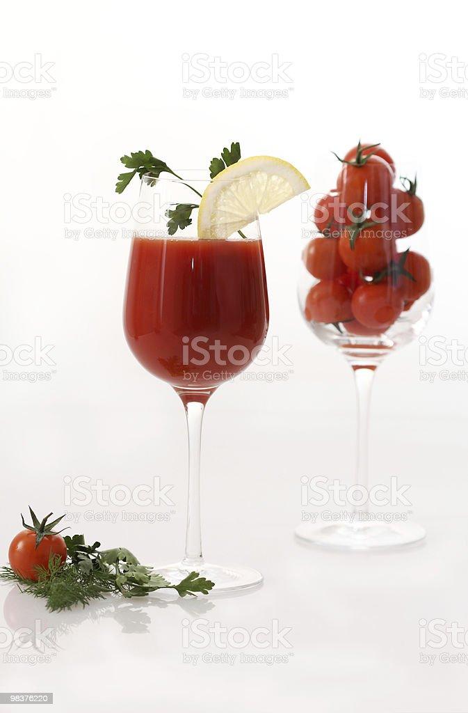Nel bicchiere di succo di pomodoro foto stock royalty-free