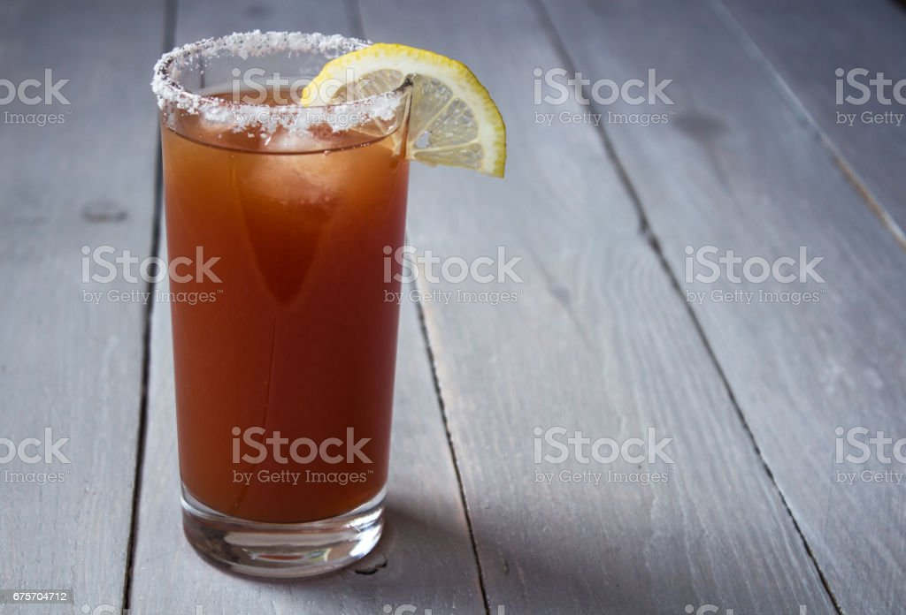 tomato juice with salt and lemon royalty-free stock photo