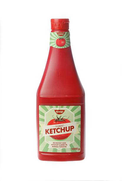 tomato ketchup bottle - ketchup bottle stock photos and pictures