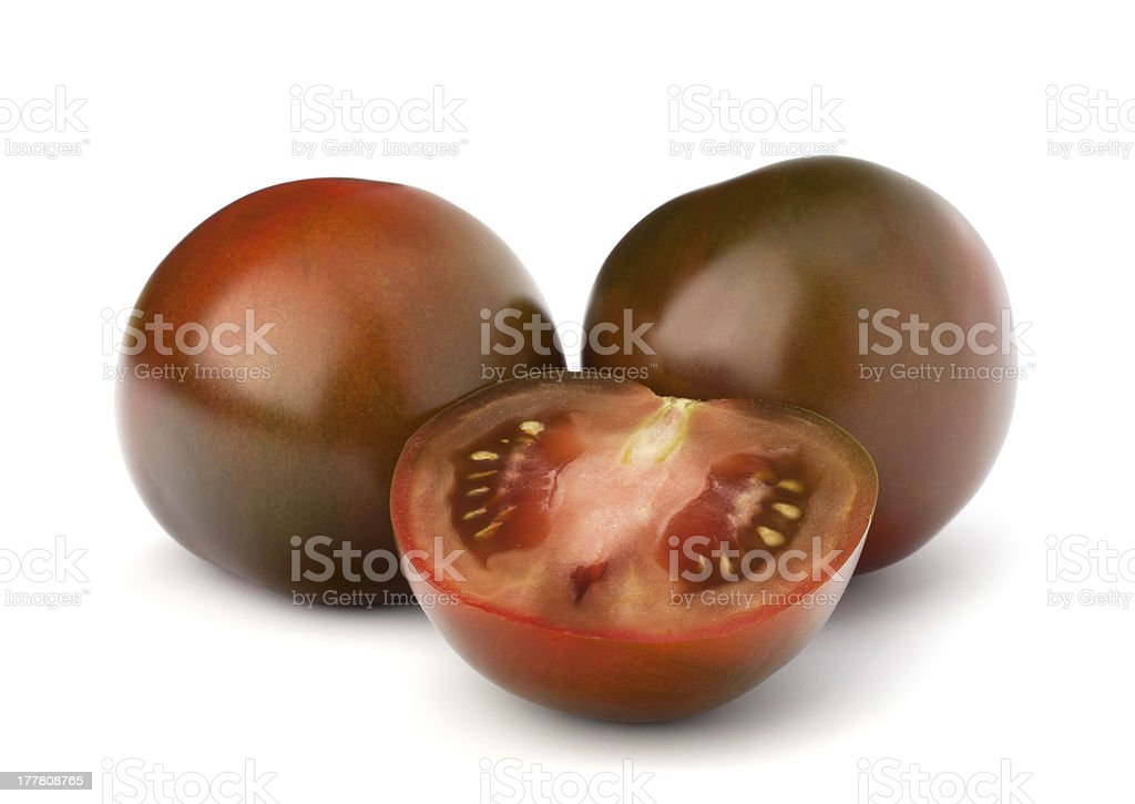 Tomato kumato stock photo