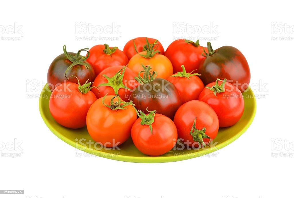 Tomato on plate royalty-free stock photo