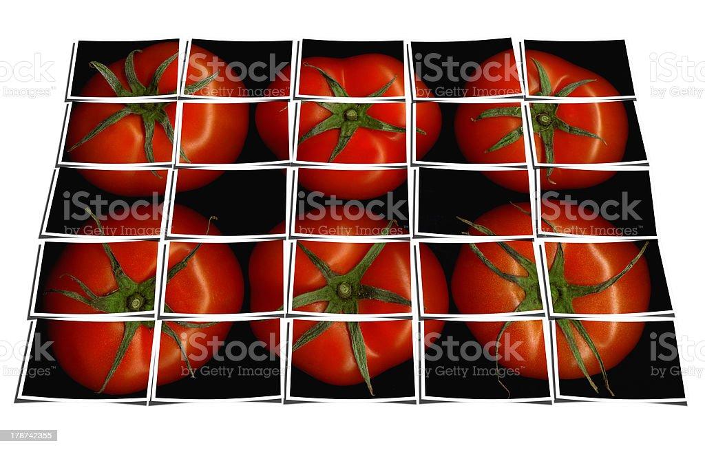 tomato puzzle collage royalty-free stock photo