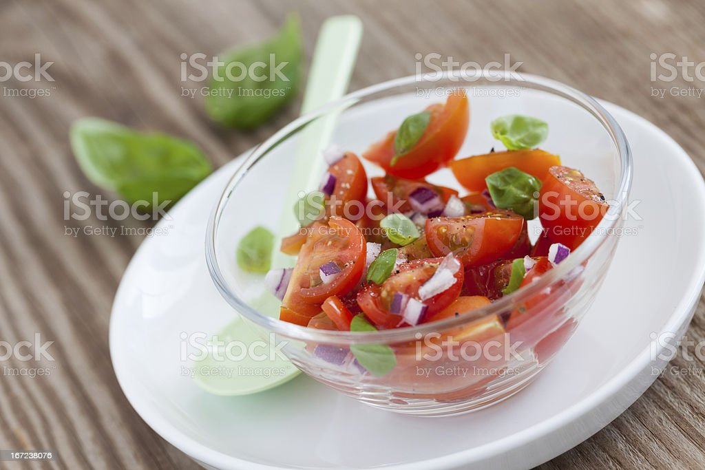 tomato salad in a bowl royalty-free stock photo