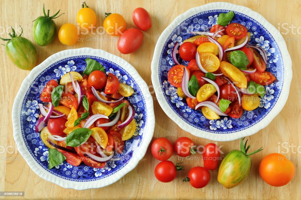 Tomato salad. stock photo