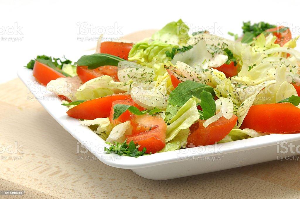 tomato salad with fresh herbs royalty-free stock photo