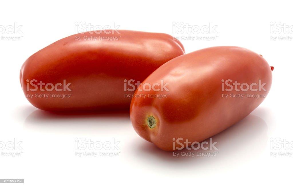 Tomato San Marzano isolated stock photo