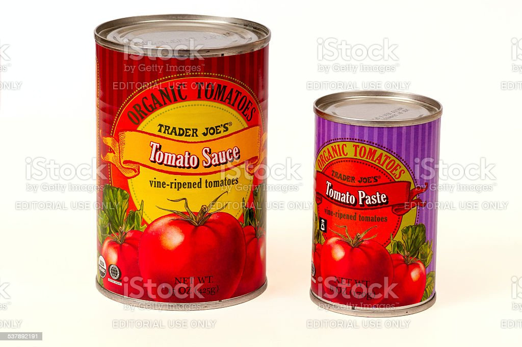 Tomato sauce and paste stock photo