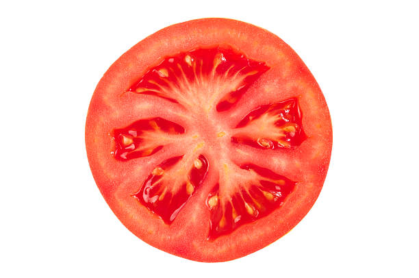 Tomato slice stock photo