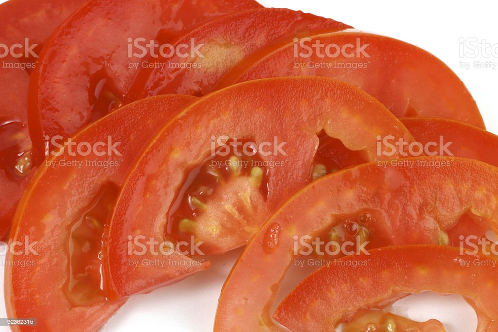 tomato slices royalty-free stock photo