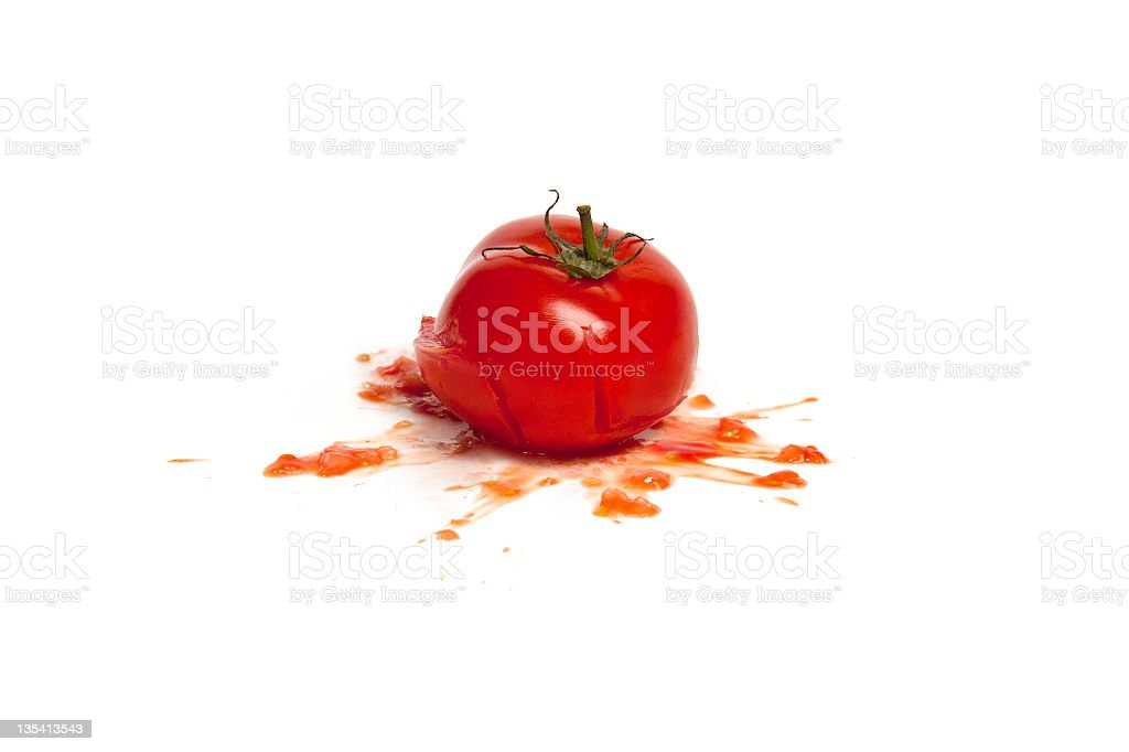 tomato smashed stock photo