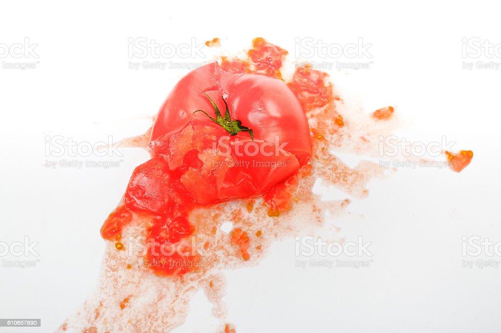 tomato Smashed stock photo