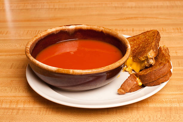 Tomato Soup Grilled Cheese stock photo