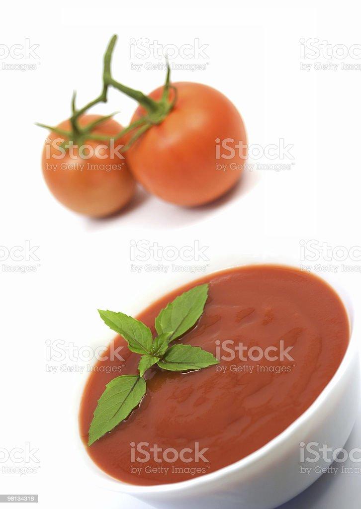 Tomato soup royalty-free stock photo