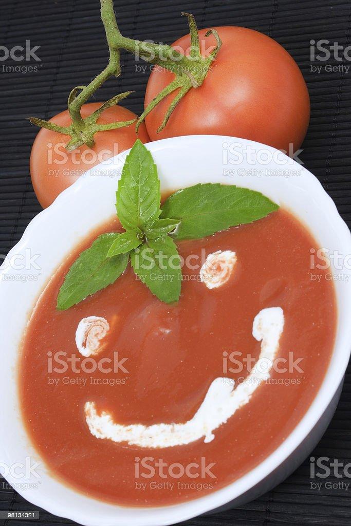 Tomato soup smiley royalty-free stock photo