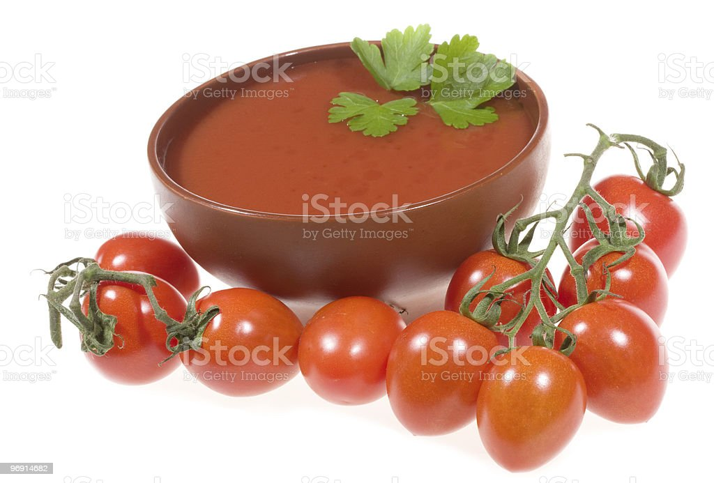 tomato soup with tomatoes royalty-free stock photo
