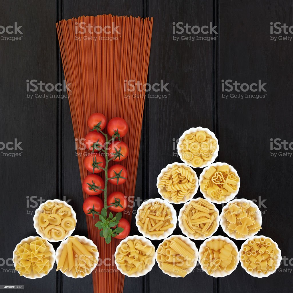Tomato Spaghetti and Italian Pasta stock photo