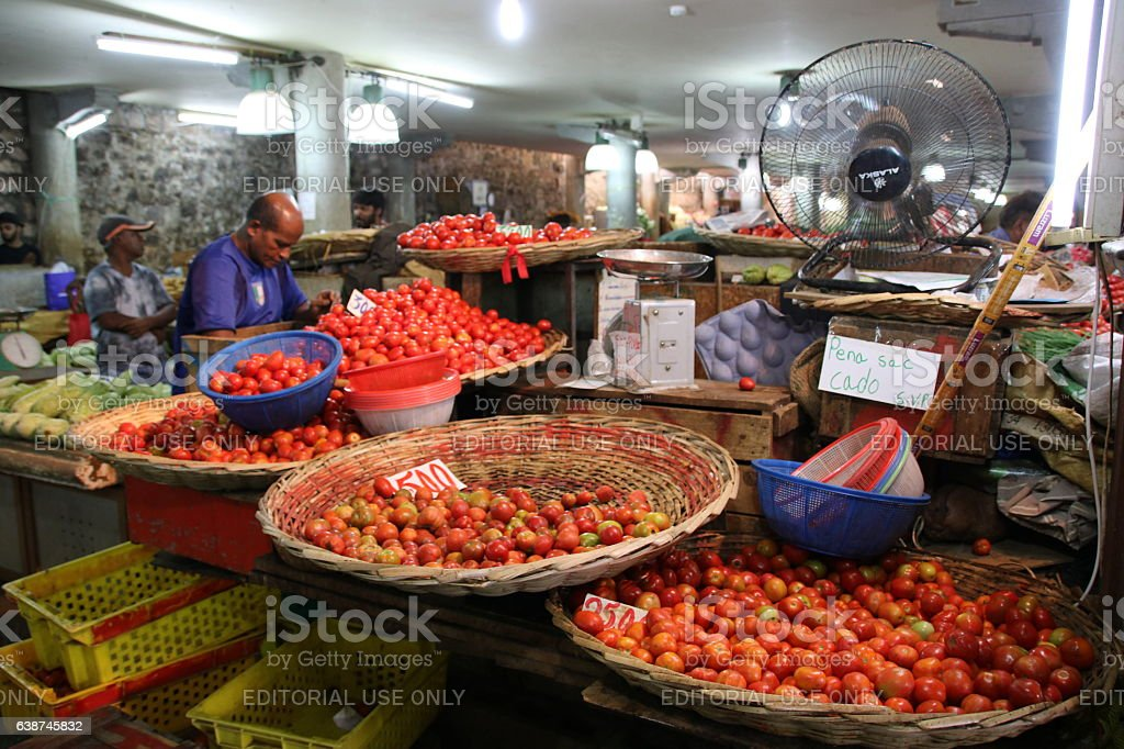 Tomato Stall Central Market Port Louis Mauritius Indian