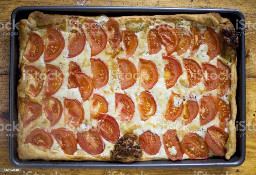 Tomato tart royalty-free stock photo