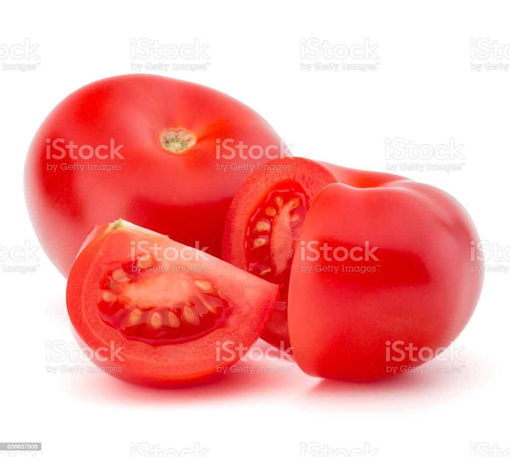 Tomato vegetable isolated on white background cutout stock photo
