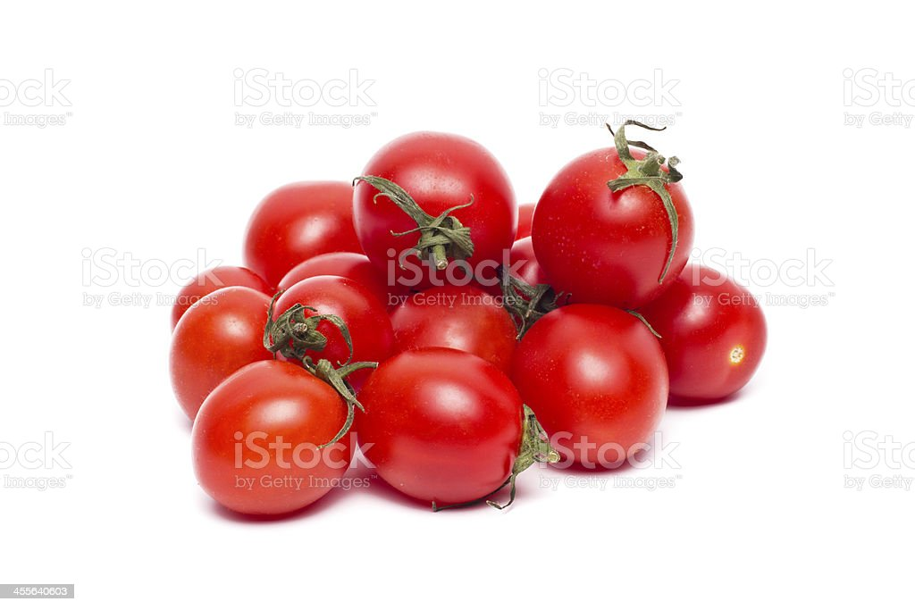 Tomato vegetables pile isolated stock photo