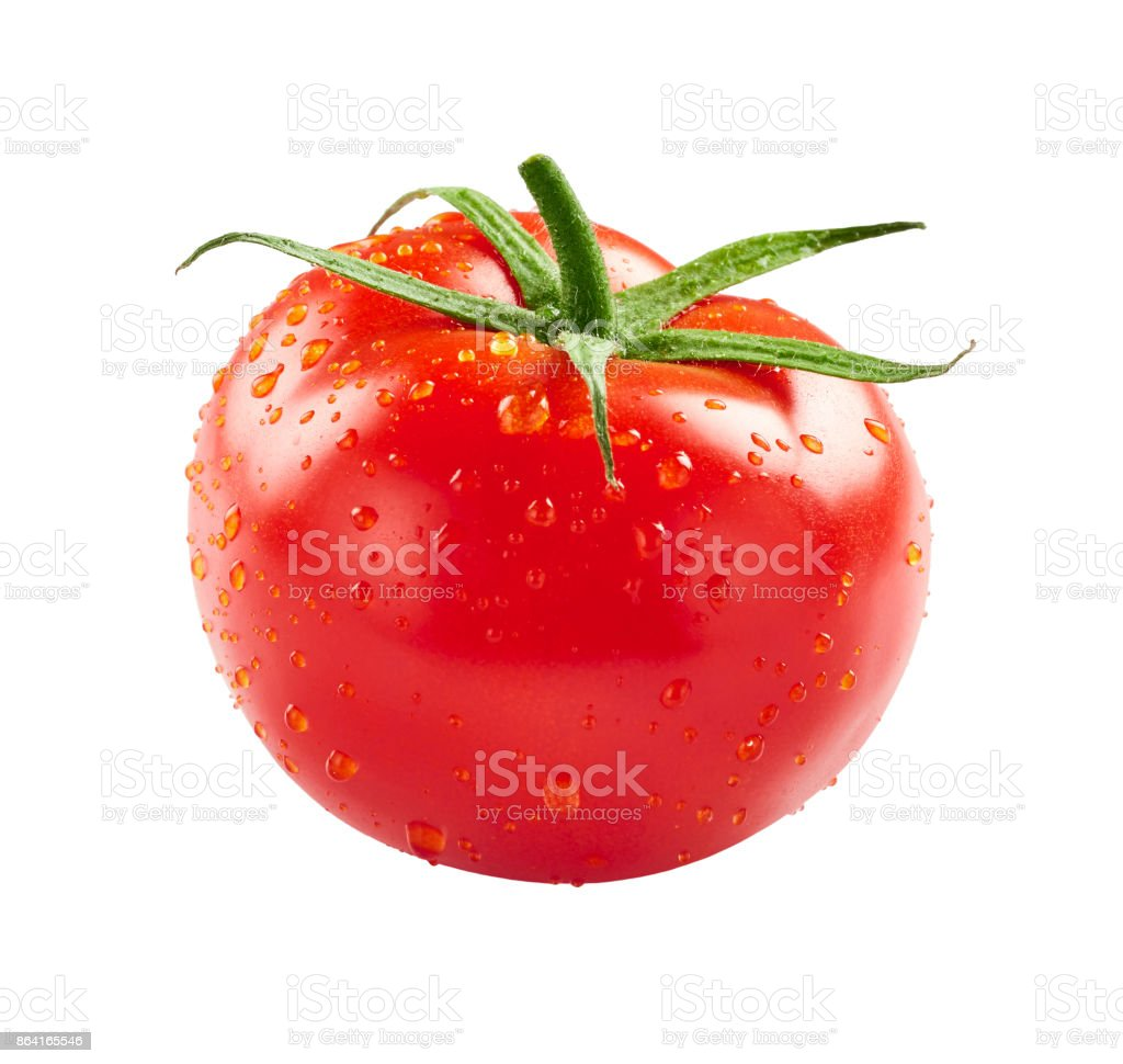 Tomato with drops of water royalty-free stock photo