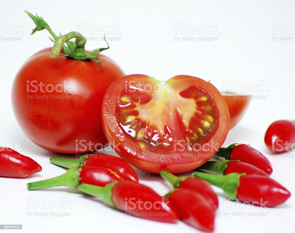 Pomidory i Chilies zbiór zdjęć royalty-free
